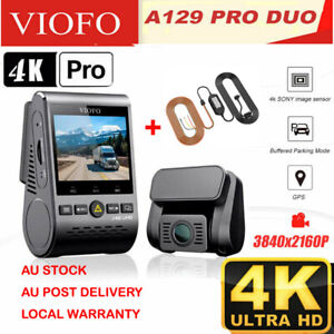 VIOFO A129 PRO DUO ULTRA 4K Dashcam DUAL CHANNEL, WI-FI, Bluetooth+ HARDWARE KIT