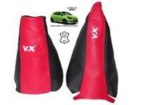 Gear Handbrake Gaiter For Opel Vauxhall Corsa D 06-14 Black/Red Embroidery