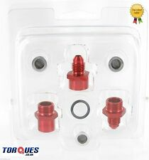 AN-4 (4AN JIC 4) Red Turbo / Supercharger Oil Feed Filter Kit In Red