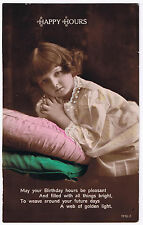 Happy Hours -  Vintage Postcard - Sweet Child Design 1924