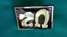 Official Metal & Enamel U2 Pin Cloisonne Pinback Horseshoe Letters ~ B
