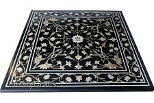 24 Inches Marble Center Table Top with MOP Floral Pattern Coffee Table for Home