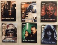 STAR WARS EPISODE 1 Phantom Menace Frito Lay's Can't Resist Mini-Card Lot Of 6