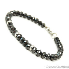 45.00ct Black  Diamond Vibrant  Beads Bracelet  14K Gold 10.3 Grams