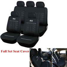 Set 5-Seats Auto Car Pattern Seat Cover Sport Style Cushion Protector All Season