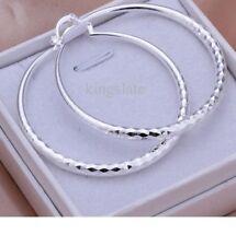 Beautiful 925 Sterling Silver Fashion Hoops Earrings