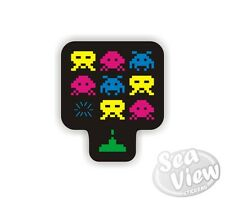 Space Invaders Car Van Sticker Stickers Decal Sticker Retro Vintage Gaming Game