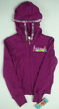 Hannah Montana girls full zip hoodie sequin trim sweatshirt 100% cotton jacket