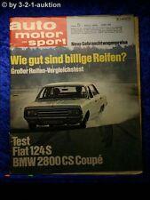 AMS Auto Motor Sport 5/69 BMW 2800 CS Fiat 124 Special Alfa Giulia Super