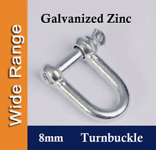 8mm Galvanized Zinc D-SHACKLE for Shade Sail, Boat