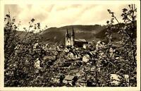 Forbach Schwarzwald Murgtal alte Ansichtskarte 1958 gelaufen Teilansicht Kirche