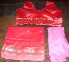 Matched Size 16 Saree Blouse Petticoat set Indian Bollywood