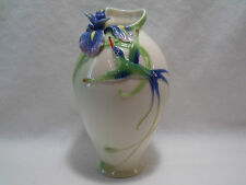 Franz Porcelain Long Tail Hummingbird Vase FZ00246 -NICE- 5.5 Inches Tall