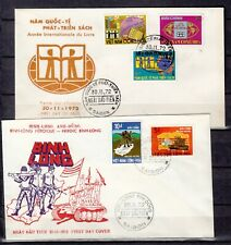 VIETNAM 1972  2  FDC COVERS first day premier jour