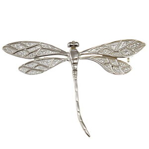 Sterling Silver Dragonfly Brooch with presentation gift box