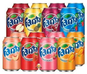 AMERICAN IMPORTED FANTA APPLE CHERRY STRAWBERRY SODA FIZZY FLAVOURED SOFT DRINKS