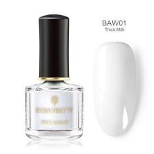 BORN PRETTY 6ml White Nail Polish Peel Off Fast Dry Nail Varnish Shiny Decors