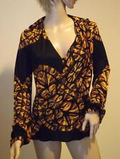 Mara Hoffman Black Gold Layered Long Sleeve Polyester Top Small
