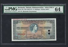 Bermuda 5 Shillings ND(1952-57) P18s Specimen Uncirculated