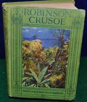 The Life and Adventures of Robinson Crusoe - Daniel Defoe w/Color Illustrations