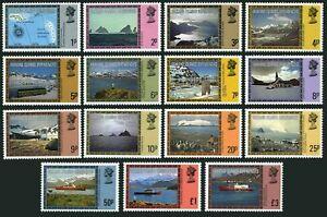 Falkland Depend 1L38-1L52,lightly hinged.Mi 78-92. 1980.Map,Views,Ships.