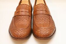 Paul Smith Men's Brown Tan Woven Leather Loafers Shoes UK 8.5