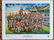 AFL COLLINGWOOD FOOTBALL CLUB TEAM OF THE CENTURY POSTER SIGNED