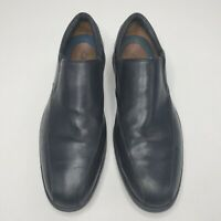 CLARKS PLUS Black Leather Bicycle Toe Slip On Loafers Shoes Size 10.5M