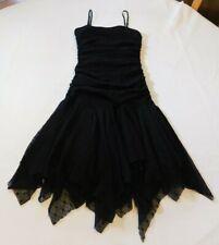 Un Deux Trois Youth Girl's Black Sleeveless Spaghetti Strap Party Dress Size 12