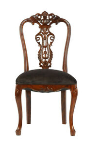 Carved Rosewood Timber Chair