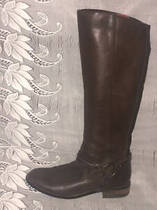 M&S AUTOGRAPH LEATHER PULL ON BIKER BOOTS - UK 6.5