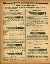 1926 PAPER AD 2 PG Marble's Hunting Knife Knives Canoe Expert Green River Works