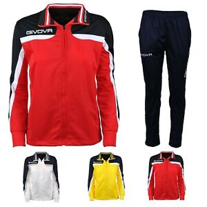 Givova Kinder Trainingsanzug Jogginganzug Sport Anzug Fußball Jungen Mädchen Neu