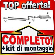 Scarico Completo OPEL MERIVA B 1.4 T con CROMO Marmitta Y67