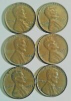 Lincoln Wheat Cents circulated mixed dates P/D mints