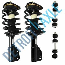4 pc Set: 2 NEW Front Complete Ready Strut Assembly + 2 Sway Bar Links
