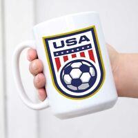 USA Soccer Team National Crest Ceramic Coffee Mug Tea Cup Fun Novelty Gift
