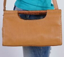 FOSSIL Small  Tan Leather  Shoulder Hobo Tote Satchel Purse Bag