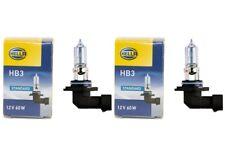 HELLA 2x Halogenlampe Halogenbirne HB3 12V 60W P20d STANDARD