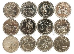 SOMALILAND 12 COINS SET 2006 ZODIACS UNC (#258)