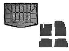 Set Gummimatten + Kofferraumwanne für Ford C-Max DXA mit Ersatzrad ab 2011