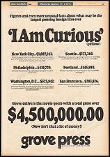 I AM CURIOUS (YELLOW)__Original 1969 Trade AD / poster__sexploitation_LENA NYMAN