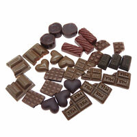 30 pcs Pack Mixed Resin Chocolate Candy Sweets Cabochons Flatback Crafts Decor