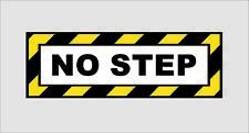 NEW Plane Pilot No Step 3M Graphic Vinyl Car Window Truck Laptop Sticker Decal