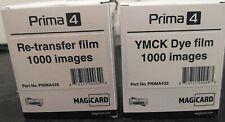Prima 4 Retransfer Film & YMCK Dye Film 1000 Images MAGiCARD