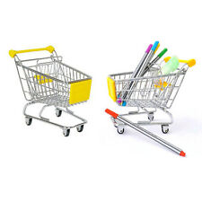 Yellow New Mini Supermarket Handcart Shopping Utility Cart Mode Desk Storage Toy