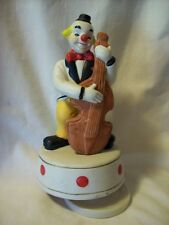 "Revolving Cello Playing Ceramic Clown Music Box, ""Let Me Call You Sweetheart"""