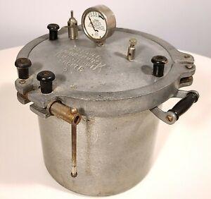 SEARS KOOK KWICK VINTAGE PRESSURE COOKER CANNER 1930s HEAVY-DUTY CAST ALUMINUM