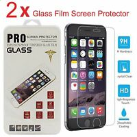 2X Premium Real Tempered Glass Film Screen Protector for Apple 4.7 iPhone 6 6s 7