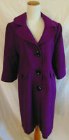 mary-kay-Consultant-purple-blazer-coat-wooL polyeste blend coat jacket 1911~14P